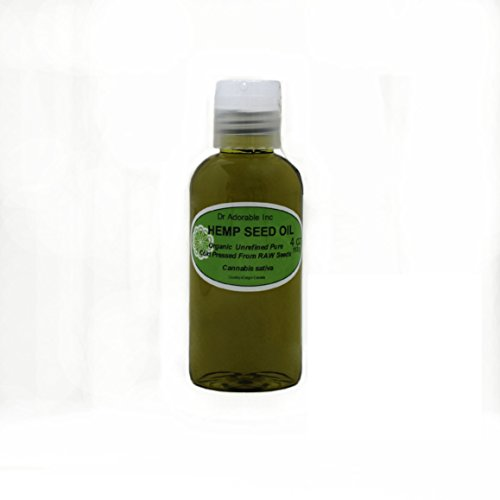Hemp Seed Oil Pure Organic Cold Pressed by Dr.Adorable 4 oz
