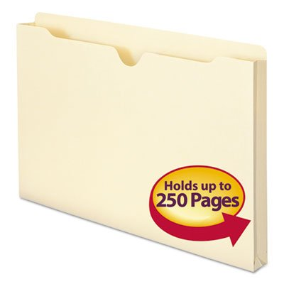 File Jackets with One Inch Accordion Expansion, Legal 11 Point Manila, 50/Box, Sold as 50 Each
