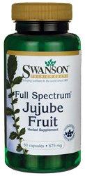 Full-Spectrum Jujube Fruit 675 mg 60 Caps by Swanson Premium