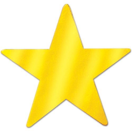 Gold Metallic Star - 1
