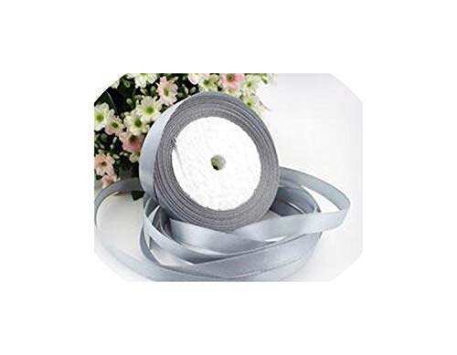 (3/8'' 22M Long Silk Satin Ribbon 10Mm Wide Party Home Wedding Decoration,Silver,Width 10Mm)
