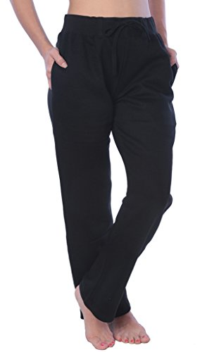 Woman Drawstring Pocket Sweatpants Available in Plus Size LFPO_18 Black 4X
