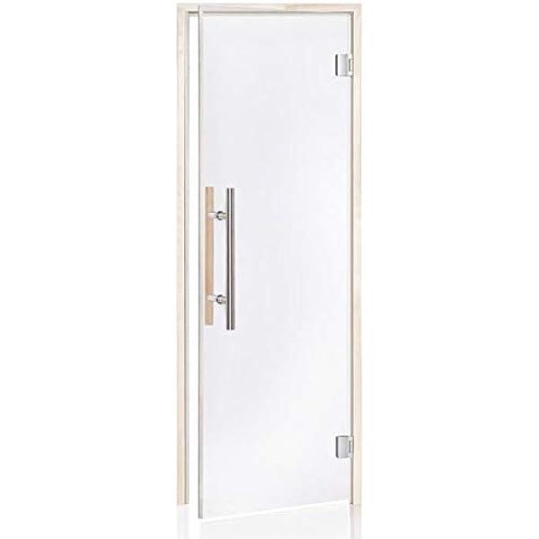 Glass House Puertas De Sauna De Luxe 70 X 190 | Color De Cristal: Transparente | Material De Montura: Aspen: Amazon.es: Hogar