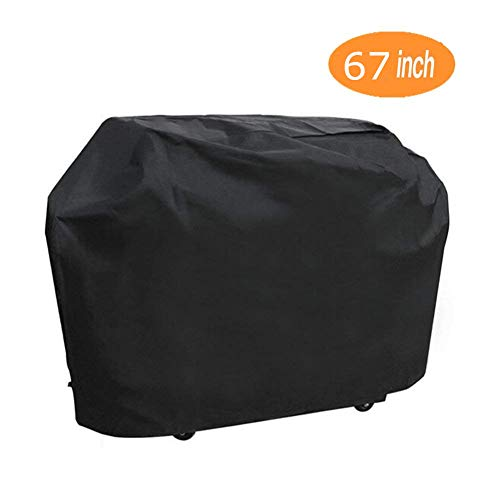 ONMIER Grill Cover, 67 inch Oxford Fabric BBQ Cover Waterproof & Dust-proof & Anti-UV, Heavy Duty Gas Grill Cover for Outdoor , Garden Patio Grill Protector ( Black)
