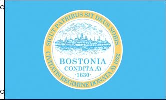 Boston City Flag 3x5ft Polyester