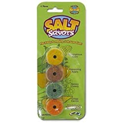 Super Pet Salt Savors Pre-Drilled Chew Treats for Pet Critters (4 pack)