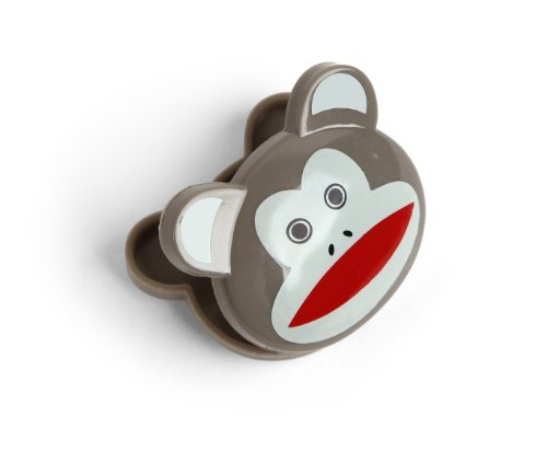 Kikkerland Sock Monkey Bag Clips, Set of 6