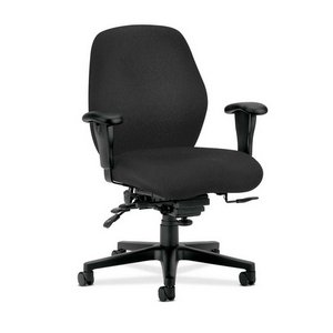 HONamp;reg; - 7800 Series High-Performance Mid-Back Task Chair, Tectonic Black - Sold As 1 Each - Wave-formed seat cushion distributes weight across a broader surface area, reducing stress on pressure points.