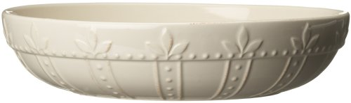 Signature Housewares Sorrento Collection 12-Inch Large Pasta Bowl, Ivory Antiqued Finish ()