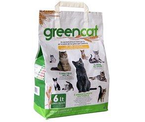 5 X Lettiera Per Gatti Greencat 100 Biodegradabile Smaltibile Wc
