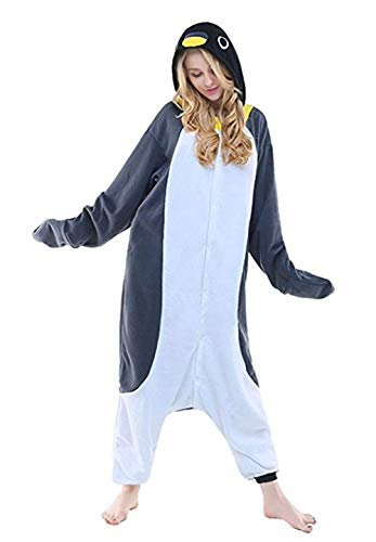 Women's Sleepwear Unisex Adult Child Anime One-Piece Pajamas Penguin Onesie Homewear Cosplay (Size L for 66-70