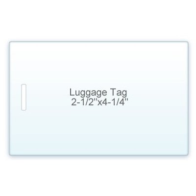 10 Mil. Luggage Tag Size lamination Pouch Letter Size Clear 2 1/2'' X 4 1/4'') 100 Pcs - WITH SLOT