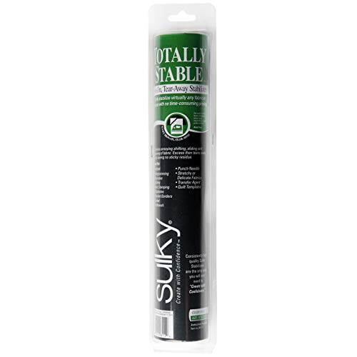 Sulky 12-Inch by 12-Yard Totally Stable Iron-On Tear-Away Stabilizer Roll (Renewed)