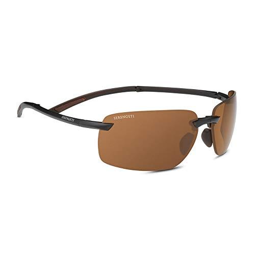 Serengeti Vernazza Sunglasses, Drivers Polar PhD 2.0 NXT Sun Lens, Matte Brown ()
