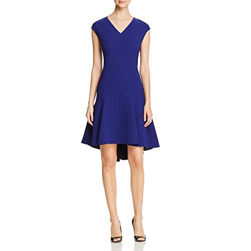 (Elie Tahari Womens Crepe Party Cocktail Dress Blue 12)