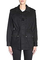 Saint Laurent Women S 534561y153w1000 Black Cotton Jacket