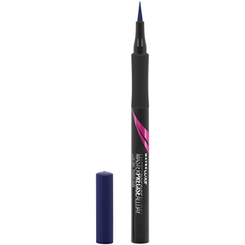 Maybelline Eyestudio Master Precise All Day Liquid Eyeliner Makeup, Cobalt Blue, 0.034 fl. oz.