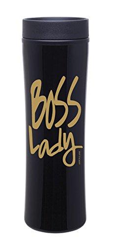 Boss Lady Travel Mug Black w/ Gold- Stainless Coffee Mug Gift