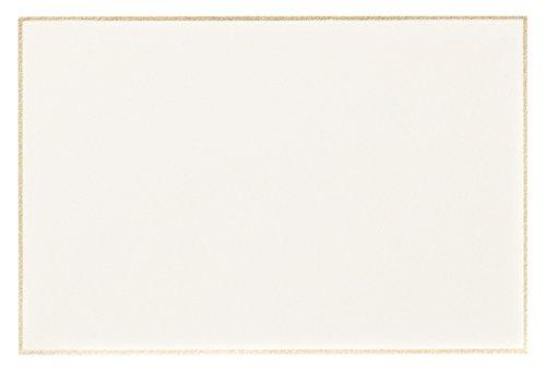 Crane Gold Bordered Correspondence Card, Ecru (CC3716)