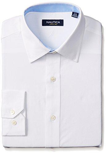 Nautica Solid Spread Collar Dress product image