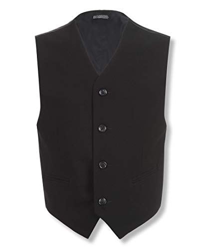 Calvin Klein Dress Up Big Boys' Bi-Stretch Vest, Black, Small Calvin Klein 2 Button Tuxedo