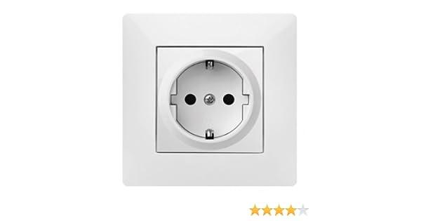 Schuko Enchufe Enchufes Interruptor pulsador interruptor de luz Interruptor Volante: Amazon.es: Bricolaje y herramientas