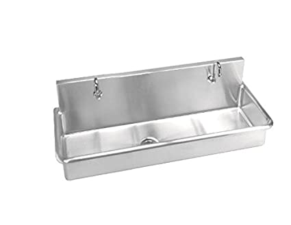 Just Manufacturing J4820 3S1H Just Mfg Surgeonu0027s Wash Up Sink, Wall Hung,