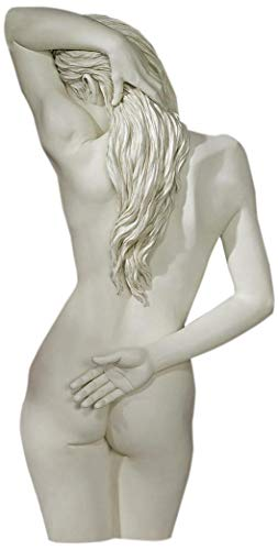 - Design Toscano Sweet Surrender Woman Wall Decor Sculpture, 27 Inch, Polyresin, Antique Stone