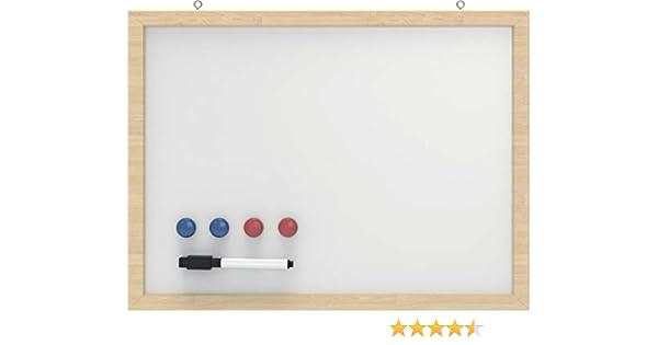 Pizarra con marco de madera, 30 x 40 cm, color: blanco: Amazon.es: Electrónica