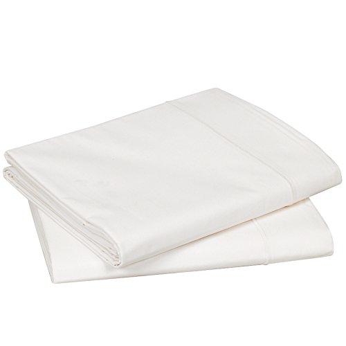 Nougat 280 x 320 cm Blanc des Vosges Uni Percale Drap Coton Nougat 280 x 320 cm