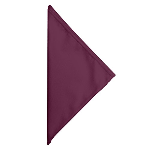 Ultimate Textile (100DZ/CASE) Poly-cotton Twill 10 x 10-Inch Cocktail Napkins - for Restaurant and Catering, Hotel or Home Dining use, Burgundy Dark Red by Ultimate Textile