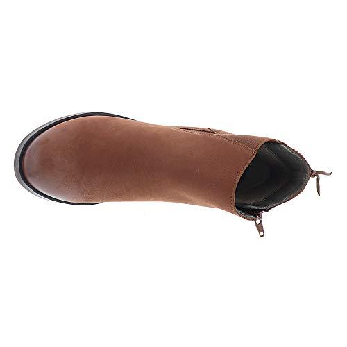 Punta Delle Logan Whisky Polpaccio Donne Chiuso Cuoio Matrice Moda Stivali Metà 6XSnFRwSH