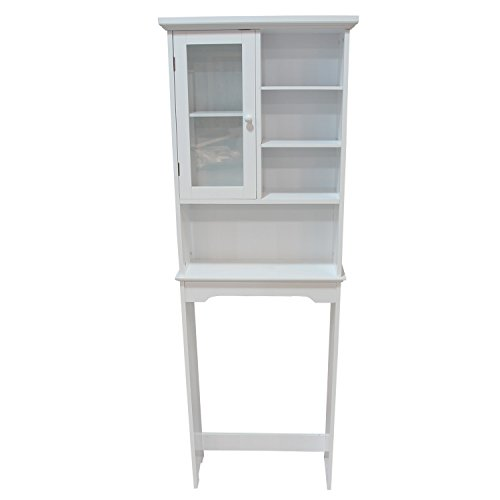 Adeco Bathroom Storage Space Saver, White (White Space Saver compare prices)