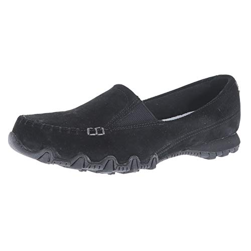 Skechers Relaxed Fit Bikers Wayfarer Womens Slip On Loafers Black 7.5 by Skechers