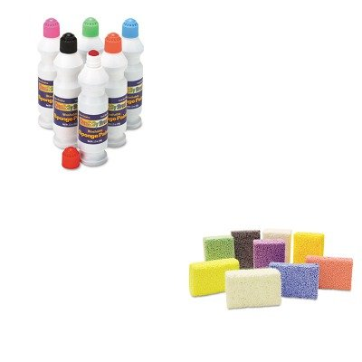 KITCKC2400CKC9651 - Value Kit - Creativity Street Squishy Foam Classpack (CKC9651) and Creativity Street Sponge Paint Set (CKC2400) Creativity Street Sponge