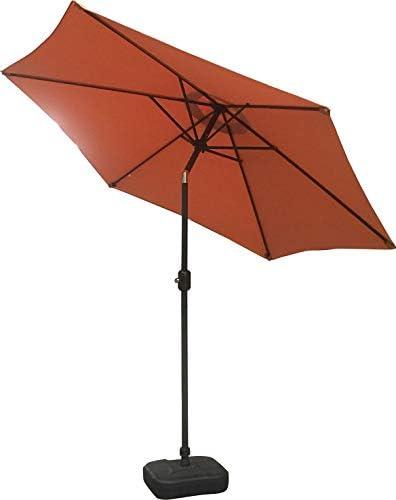 Azuma Garden Parasol 2.5M Round Black 6 Panel Crank /& Tilt Function Patio Umbrella Sun Shade With UV50 Protection Adjustable Canopy Air Vented For Stability Aluminium Pole Summer Dining Accessory