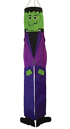 In the Breeze 5059 Frankenstein 40 Inch Breeze Buddy Windsock - Hanging Halloween Decoration - Outdoor Holiday Décor