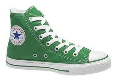 Converse Chuck Taylor All Star Shoes (1J791) Hi Top in Kelly Green, Size: 11 D(M) US Mens / 13 B(M) US Womens, Color: Kelly Green