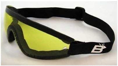 Birdz Eyewear the Wing – Yellow Lens Sky Dive Skydiving Goggles with Padding