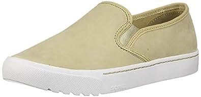 SOREL Women's Campsneak Slip On Sneaker, Oatmeal, 6 M US