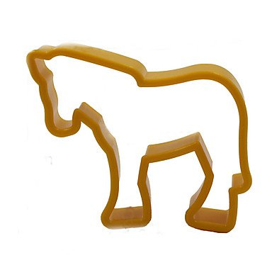 HJLHYL 12PCS Plastic Animal Cookie Cutter Baking Tools Pastry DIY Biscuit Cookie Mold Bear Lion