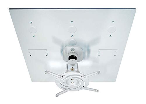 Unv Universal Projector - AVM Universal Drop Ceiling Projector Mount Kit AVM-202 - White Mount & White Plate