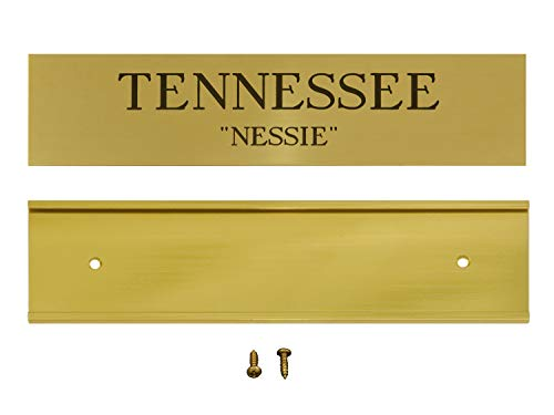 Customized Solid Brass Stall Plate with Slider