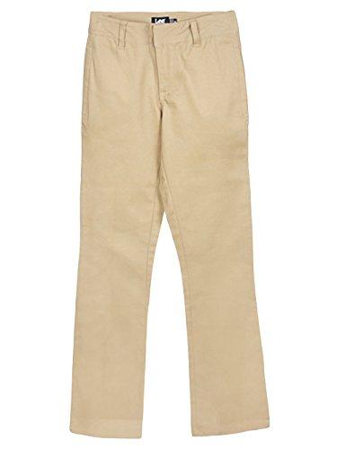 (LEE Uniforms Big Girls' Junior Bootcut Khaki Pants - Khaki, Junior 5)
