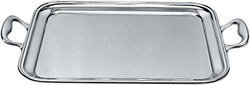 Alessi Rectangular Tray - Alessi 340/50 Rectangular Tray With Handles, Silver