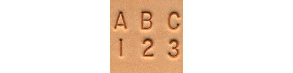 Tandy Leather Craftool� 1/4'' (6 mm) Alphabet & Number Set 8137-00 by Tandy Leather