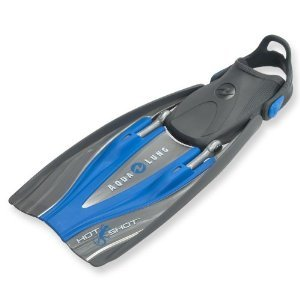 Aqua Lung Hotshot Comb-Strap Diving Fin (Blue, Regular)