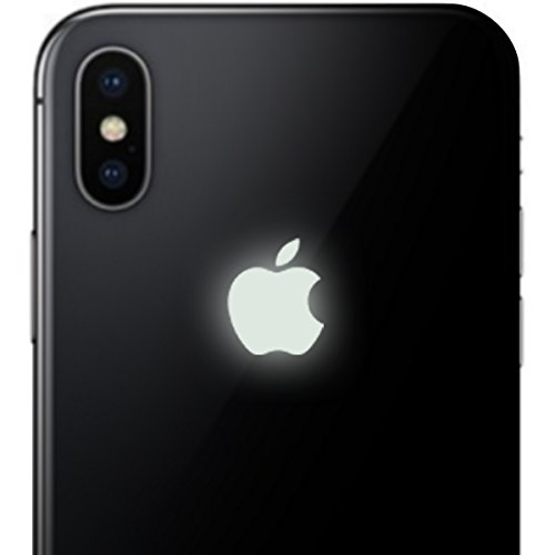 iPhone X Glow in the Dark Apple Color Changer Decal - Vinyl Decal Sticker for Phone
