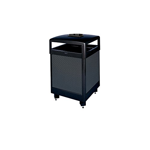 Rubbermaid Commercial Products FGR38HTWU500PL Aspen Series Ash/Trash Refuse Container with Weather Urn (Hinged Top, 38-Gallon)
