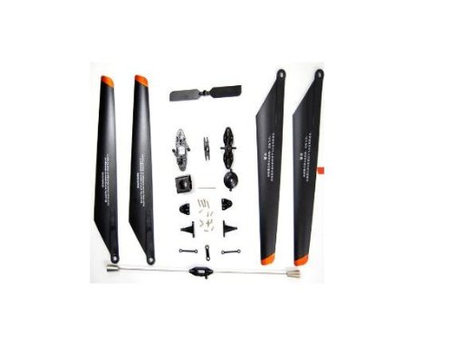 (Double Horse 9053 Replacement Parts Kit, Blades, Blade Grips, Tail Rotor, Balance bar)